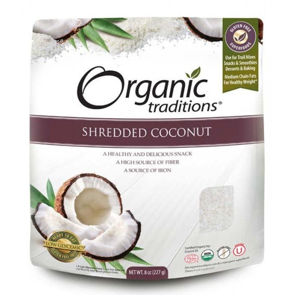 Organic Traditions Shredded Coconut (227g)