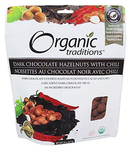 Organic Traditions Dark Chocolate Hazelnuts with Chili (227g)