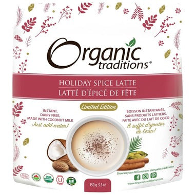 Organic Traditions Holiday Spice Latte (150g)