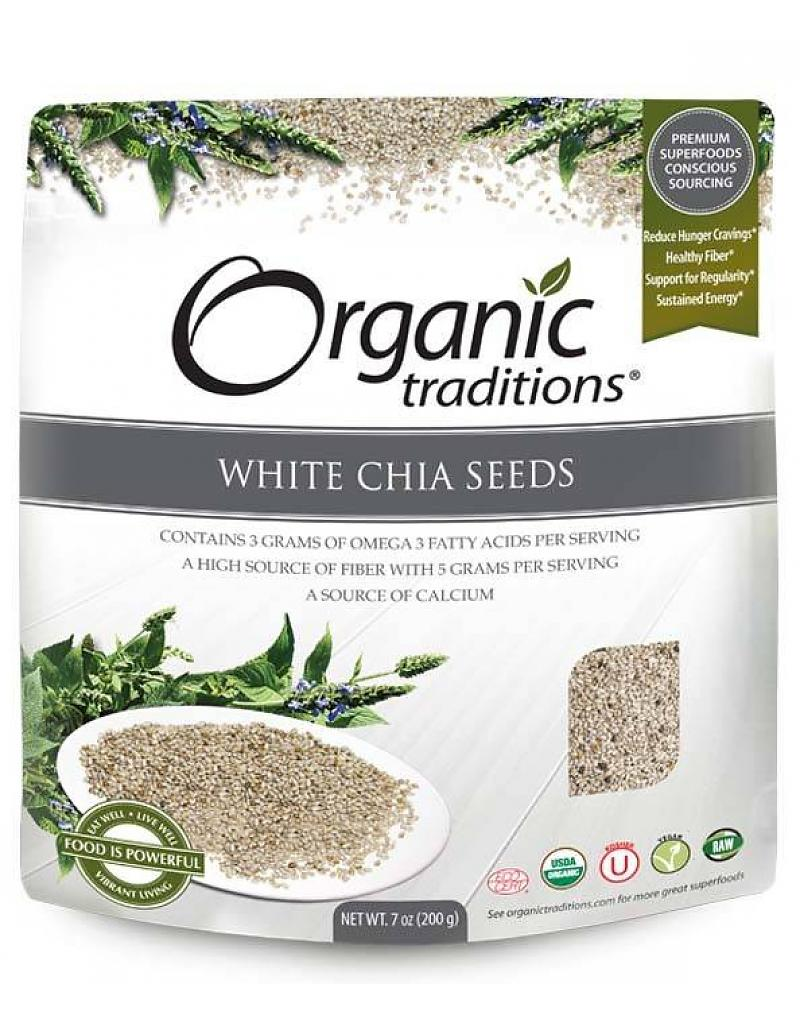 Organic Traditions White Chia Seeds (454g)