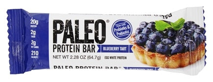 Paleo Protein Bar Blueberry Tart (60g)