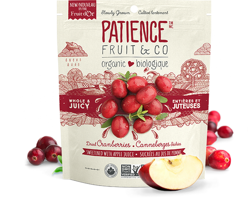 Patience Fruit & Co. Dried Cranberries Sweetened w/ Apple Juice (227g)