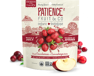 Patience Fruit & Co. Cranberries Sweetened w/ Apple Juice (113g)