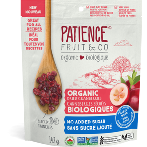 Patience Fruit & Co. Dried Cranberries - No Sugar Added (142g)