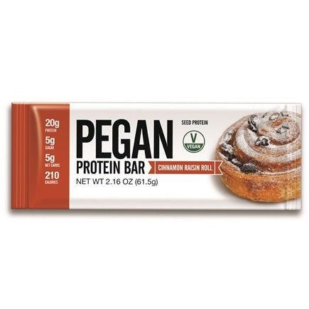 Pegan Protein Bar Cinnamon Raisin Roll (65g)