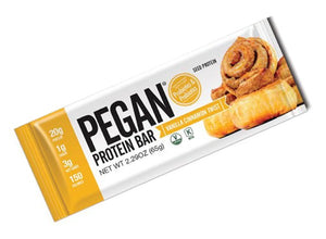 Pegan Protein Bar Vanilla Cinnamon Twist (65g)