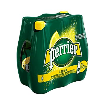 Perrier Carbonated Lemon Water 500ml (6/Pack)