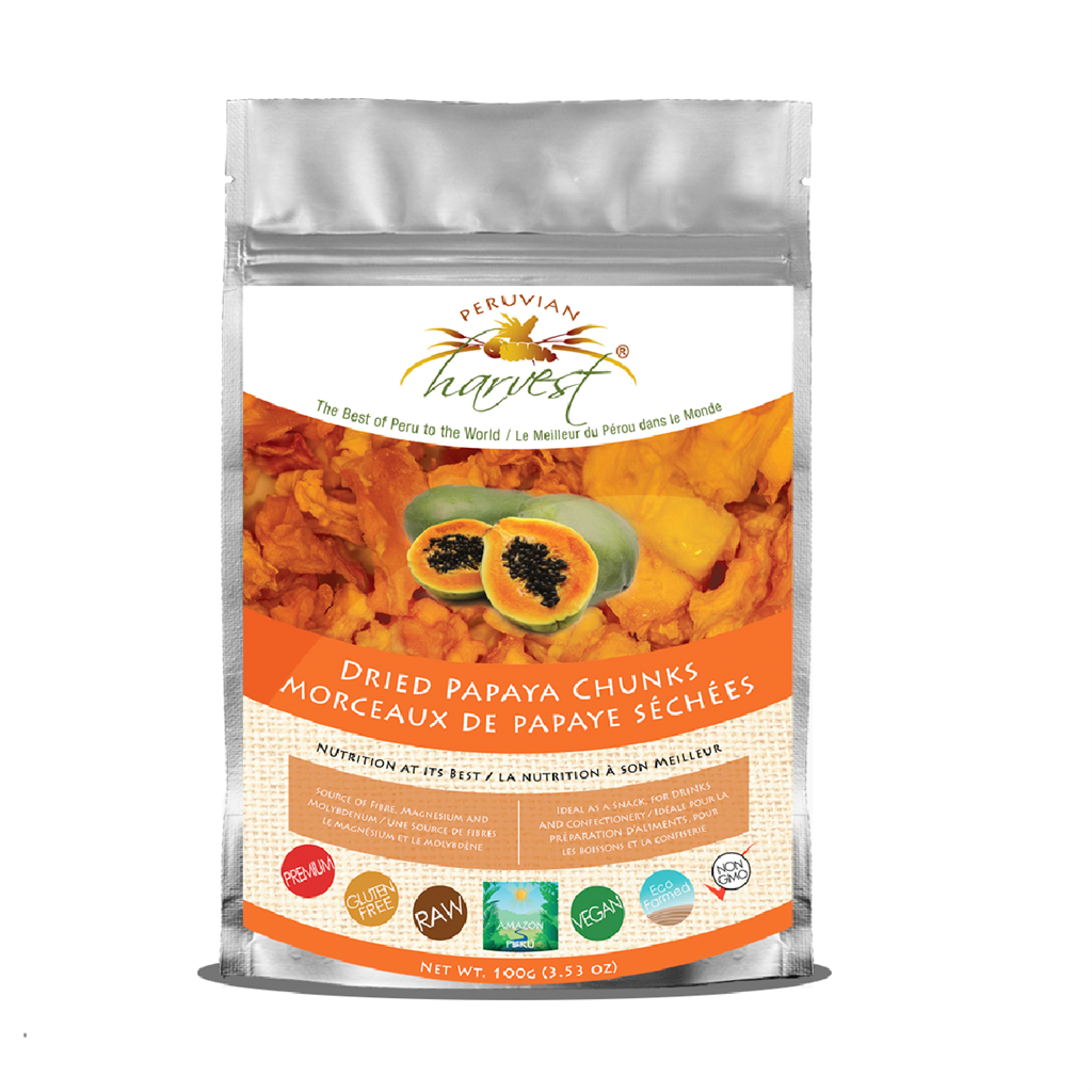 Peruvian Harvest Dried Papaya Chunks (100g)