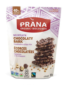 Prana Chocolate Bark Hazelnut & Crispy Rice (95g)