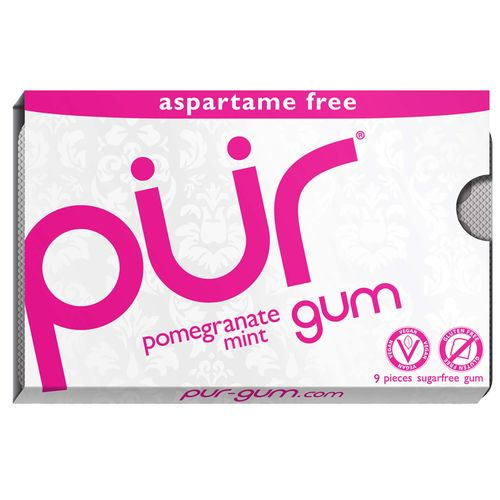 PUR Gum Pomegranate Mint (9 Pieces)