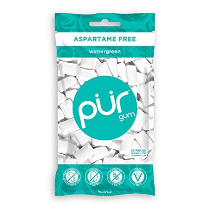 PUR Gum Wintergreen (55 Pieces)