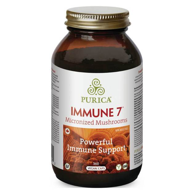 Purica Immune 7 Micronized Mushrooms (360 Veg Caps)