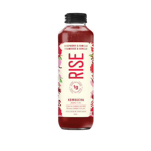 Rise Raspberry & Vanilla Low-Sugar Kombucha (414ml)