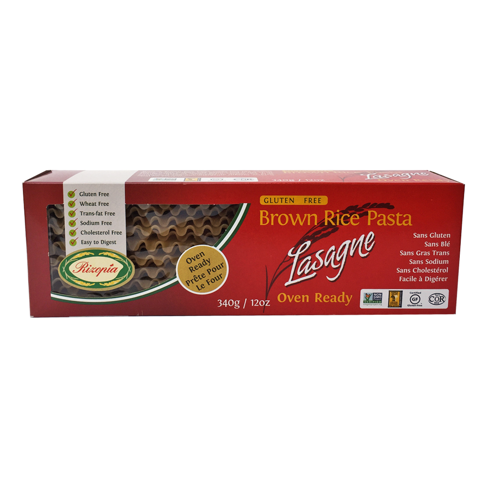 Rizopia Brown Rice Lasagna Pasta (340g)