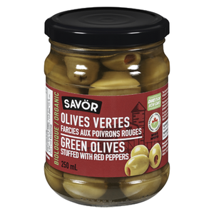 Savor Green Olives Stuffed w/ Red Peppers (250ml)