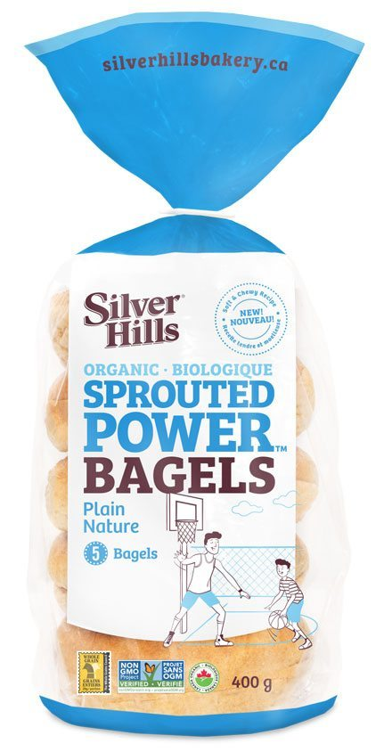 Silver Hills Sprouted Plain Bagels (5/Pack)