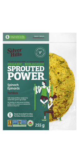 Silver Hills Organic Sprouted Spinach Tortillas (255g)