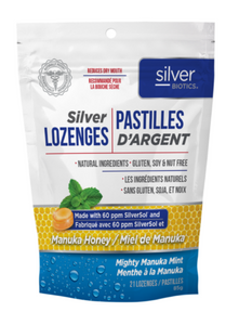 Silver Biotics Silver Lozenges w/ Manuka Honey (85g)