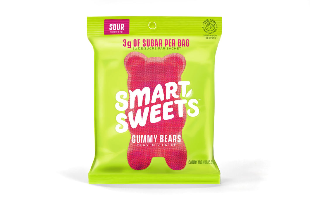 Smart Sweets Sour Gummy Bears Candy (50g)