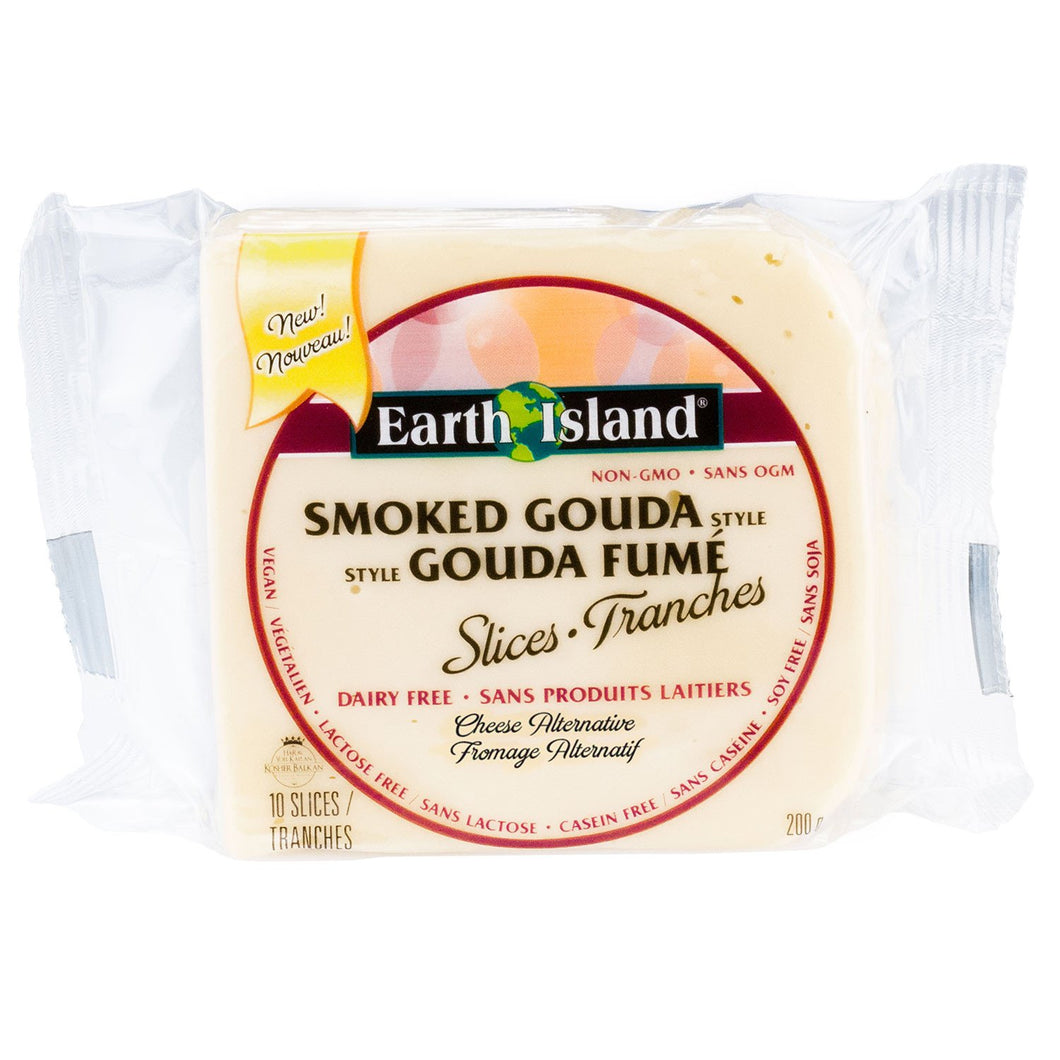 Earth Island Smoked Gouda Style Slices 200g