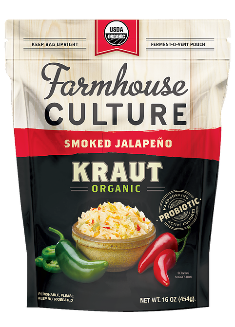 Farmhouse Culture Smoked Jalapeno Kraut 454g