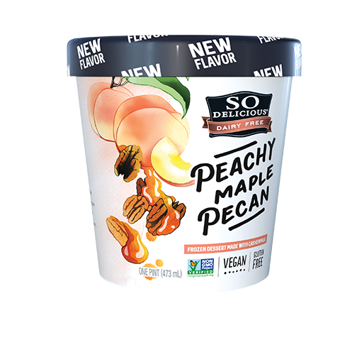 So Delicious Cashew Ice Cream Peach Maple Pecan (500ml)
