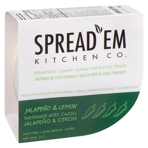 Spread'em Cultured Cashew Cheeze Jalapeno & Lemon (183g)