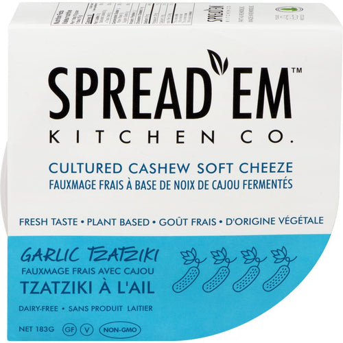 Spread'em Cultured Cashew Cheeze Garlic Tzatziki (183g)