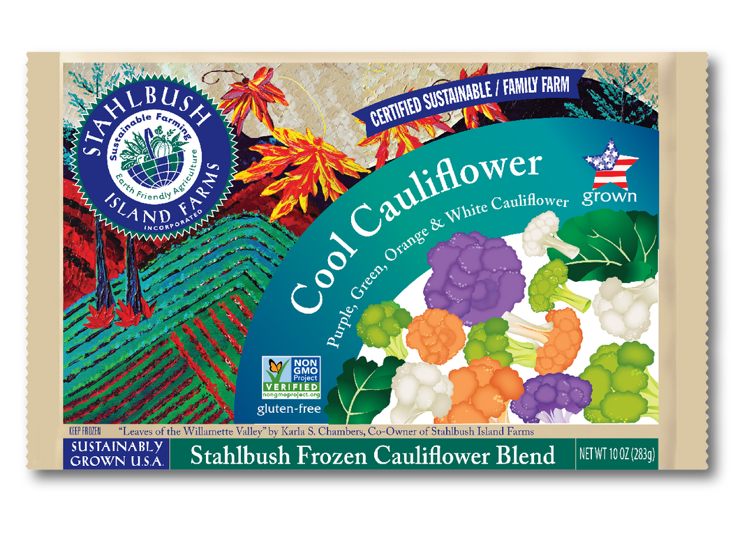 Stahlbush Frozen Multi-Colored Cauliflower Florets (300g)