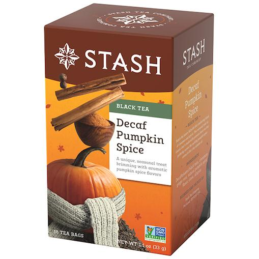 Stash Black Tea Decaf Pumpkin Spice (18 Tea Bags)