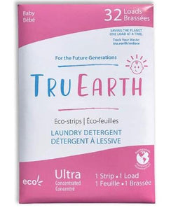 Tru Earth Laundry Detergent Eco-Strips Baby (32 Loads)