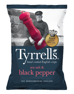 Tyrell`s Sea Salt & Black Pepper Chips