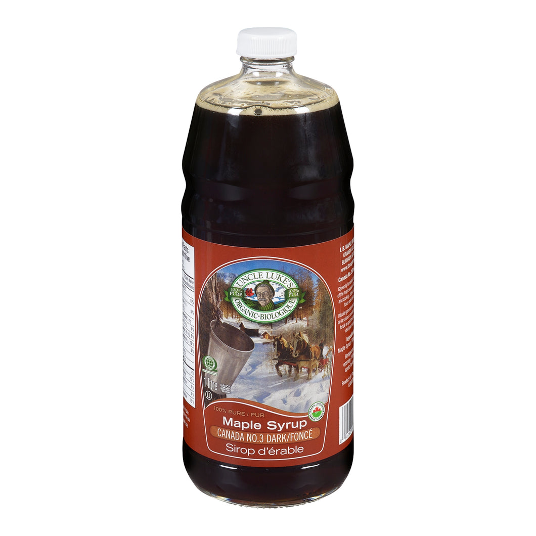 Uncle Luke's Grade A Very Dark Maple Syrup (1L)