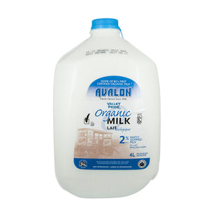 Valley Pride Organic 2% Milk (4L)