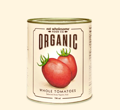 Eat Wholesome Food Co. Organic Whole Tomatoes 796ml