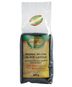 Willow Creek Beluga (Black) Lentils 800g
