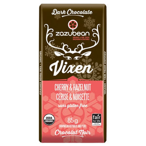 Zazubean Cherry Hazelnut Crunch Chocolate Bar (85g)