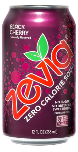 Zevia Soda Black Cherry (355ml)