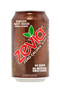 Zevia Ginger Root Beer (355ml)