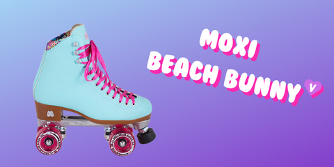 Pictured: The Blue Sky Beach bunny which is one of our top ten roller skates for beginners!