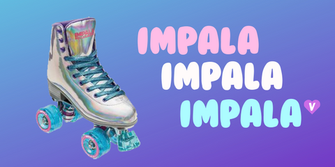 Pictured: The Impala Holographic Quad Roller Skate which is one of our top 10 best outdoor roller skates for beginners.