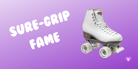 Pictured: The white Sure-Grip Fame skate which is one our favorite roller skates for beginners AND it's vegan!