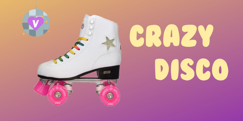 Pictured: White Crazy Disco quad roller skate!