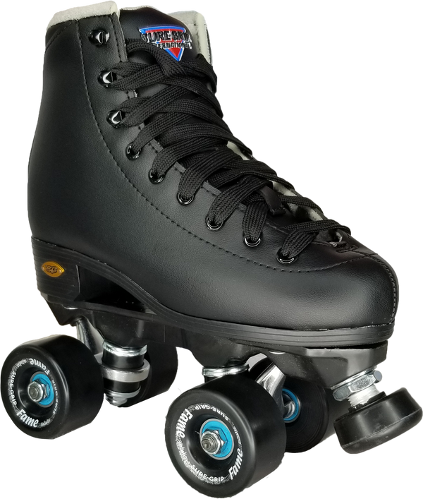 Sure-Grip Fame Skate - Black *RINK / INDOOR SKATE*