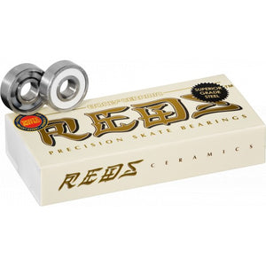 Bones Ceramic Super REDS Bearings- 8mm 16 pack