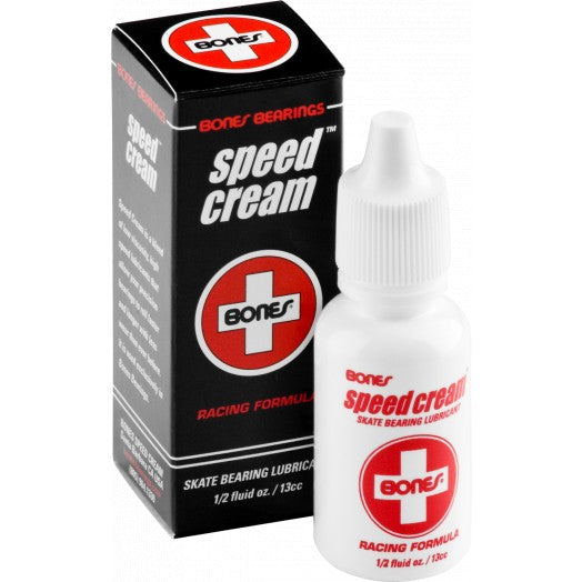 Bones® Speed Cream® is a high temperature, low viscosity synthetic skate lubricant specially formulated by Bones® to reduce friction, and provide a durable micro film of lubricant to protect against corrosion.