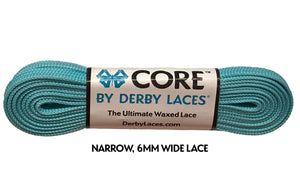 Aqua Spray Teal CORE Derby Laces