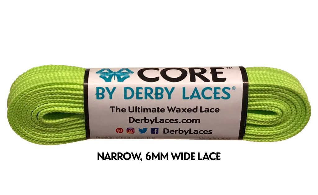 Lime Green CORE Derby Laces