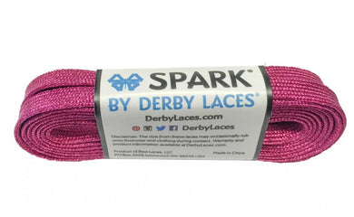 Pink Spark Metallic Sparkle Derby Laces