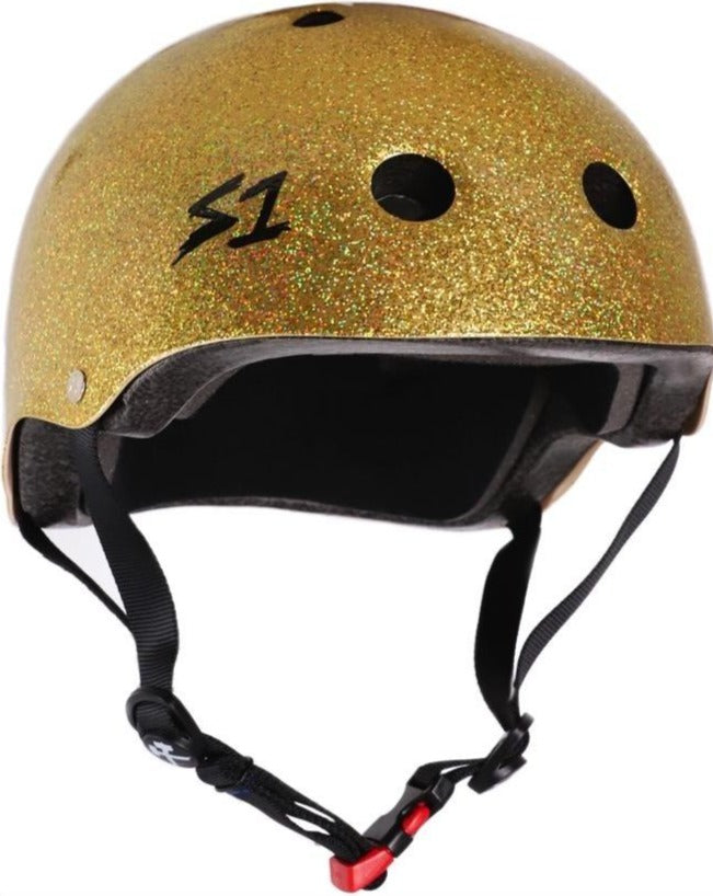 S1 MINI LIFER *KIDS* Helmet - Gold Gloss Glitter
